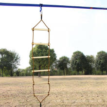 Outdoor Playground Single-headed Climbing Wooden Rope Ladder