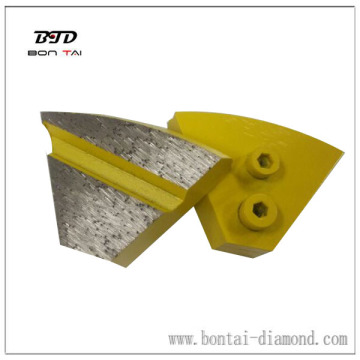 Newly design patented two button redi-lock diamond grinding pad
