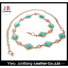 Chain Belt with Metal and Turquoise for Dresses