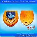 Premios Escudo Placa de Madera con Placa de Metal Personalizada