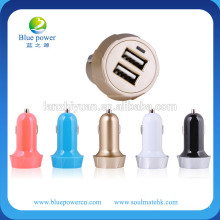 Alibaba express 5V 2A dual port usb car charger adapter for mobile phone