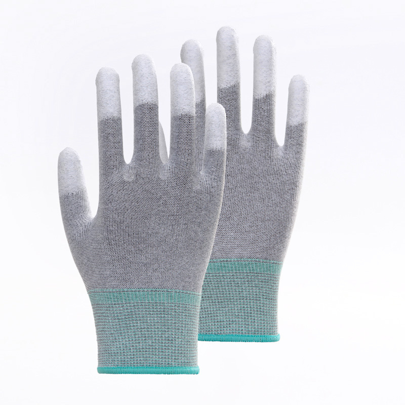 Color Stripes PU Work Gloves