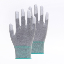 PU Coated Smooth Finish Anti-static Safety Gloves