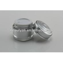 15ml 30ml 50ml Double Wall plástico acrílico cosméticos creme vazio Jar