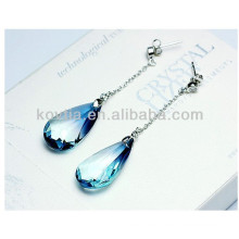 Charm sapphire dangle earrings fashion austrian crystal drop earrings