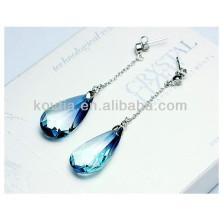 Charm safira pingente brincos moda austríaca brincos gota de cristal