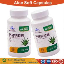 Aloe vera cápsula blanda para adelgazar y constipación / OEM pastillas de hierbas