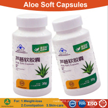 Cápsula macia de aloe vera para emagrecer e constipação / comprimidos de ervas OEM