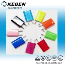 Colorful EU Standard Plug USB Power Adapter Charger