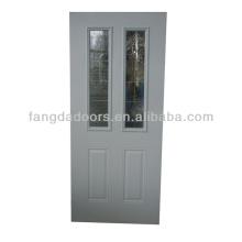 Vente chaude Fangda 34-dans la porte intérieure encadrée en acier inswing décorative avec le verre