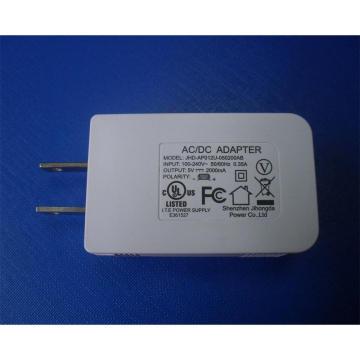 Cargador de viaje móvil blanco / negro del color 5V 2A USB con la aprobación de la UL