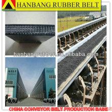 tissu noir robuste en caoutchouc tapis roulant PVC680S