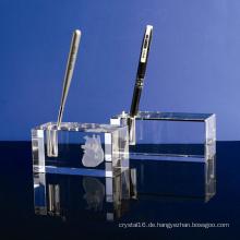 Einkristallglas Stifthalter Handwerk für Büro Dekoration