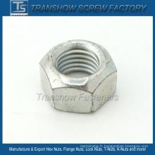 Acier au carbone Ifi100-107 Écrous hexagonaux à couple de serrage