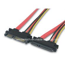 SATA (15+7) Pin M/F Hard Drive Data Sync Power Cable