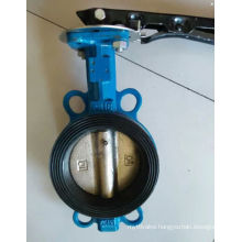 Cast Iron Wafer Type Butterfly Valve with Handle Operate D71f-150lb