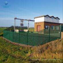 section W verte triple pointue pâle pour clôtures de palissade de 2,1 m
