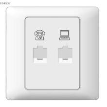 Tel and computer socket