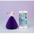 Princesa vestido tridimensional tarjetas de felicitación