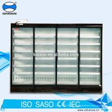 Refrigerador de puerta de vidrio de múltiples pisos de supermercado