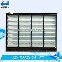 Refroidisseur de porte en verre à plusieurs étages de supermarché