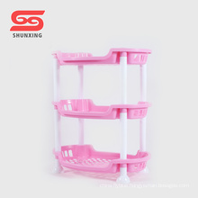 Simple design storage 3 layer plastic spice rack for kitchen