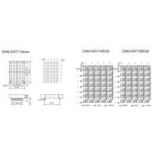 2,0-дюймовая высота 5,0 мм полноцветная матрица DOT (GNM-20571Axx-Bxx)