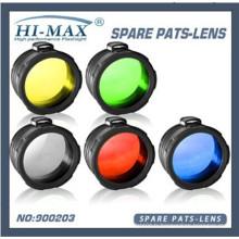 5 en 1 vert / rouge / jaune / bleu / blanc givré 45 mm C8 torche filtre lampe de poche