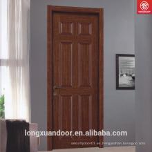 Diseños modernos MDF pintura puertas interiores de madera del dormitorio