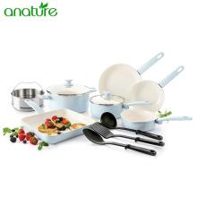Ceramic Nonstick Kitchen Cookware Set with Cooking Utensils