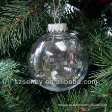 Seamless 80mm decoraciones de Navidad claro bolas de plástico