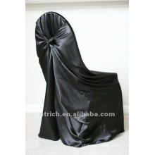 self-tie back chair cover,CT333 satin chair cover,universal chair cover