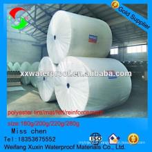 Le tapis de polyester renforcé le plus professionnel pour la membrane imperméable à l'eau de sbs application pour la membrane imperméable à l'eau de sbs app