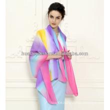 100 Silk Georgette 2014 New fashion chiffon shawl