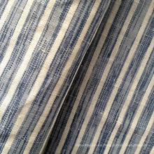 Algodón de lino mezclado franja de tela Shirting (QF13-0498)