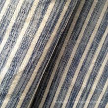 Tissu en jersey de coton mélangé en lin (QF13-0498)