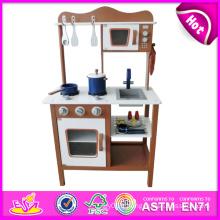 2014 nouvelle cuisine en bois de jeu, jouet populaire enfants jouent la cuisine, vente chaude enfants mis jouer cuisine usine W10c045c