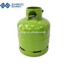 Tanque de gás propano GLP vazio com válvula e cabeçote de queimador