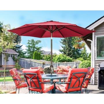 Garden umbrella big size long handle outdoor parasol