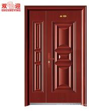 Chine fournisseurs d'appartements de construction résidentiel double luxe portes d'entrée en acier inoxydable
