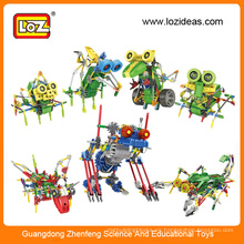 LOZ kit de robot eléctrico, robot educativo, kits de robot de plástico