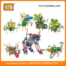 Kit de robot électrique LOZ, robot éducatif, kits de robots en plastique
