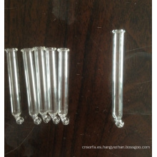 Clara curva pipeta de vidrio para gotero