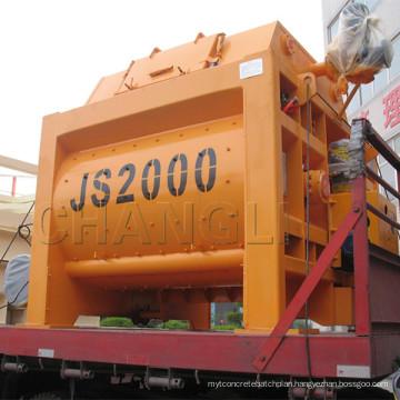 Js2000 Hot Sale Twin-Shaft Concrete Mixer Price