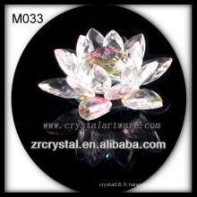 K9 Fleur de Lotus en cristal coloré