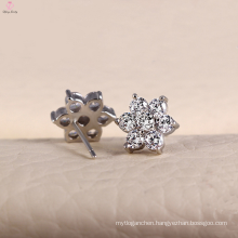 925 Sterling Silver Stud Earrings Jewelry with Inlaid CZ