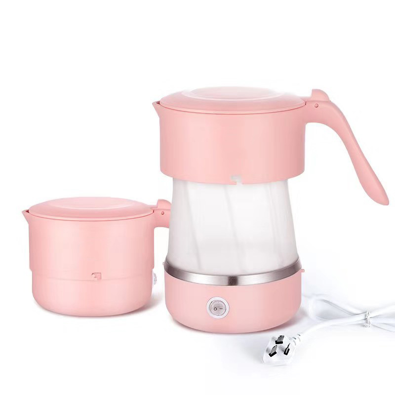 pink portable folded kettle