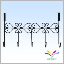 Poudre revêtue de métal durable économiseur d'espace crochet de suspension de porte