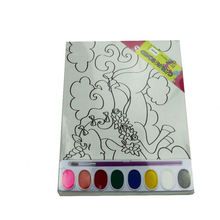 Canvas Board DIY coloring watercolor printing