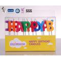 Bonne qualité chantant heureux divers modèle double couche bougie d'anniversaire